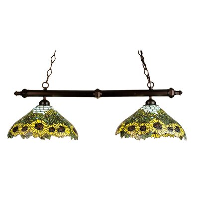 Tiffany Wild Sunflower 2-Light Pool Table Light