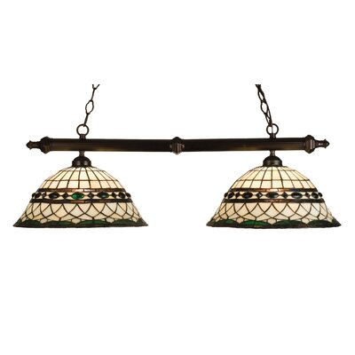 Tiffany Roman 2-Light Pool Table Light
