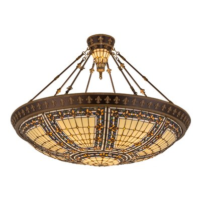 Fleur-De-Lis 10-Light Semi Flush Mount