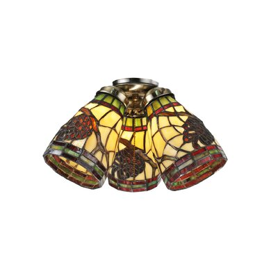Pinecone Ridge 4.5 Glass Bowl Ceiling Fan Fitter Shade