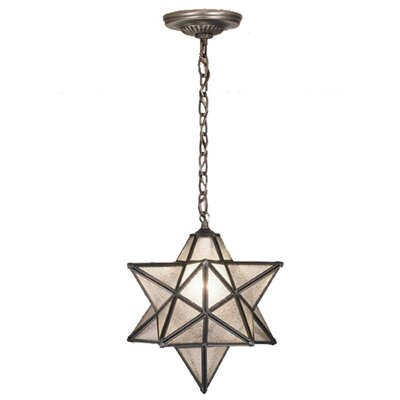 Moravian Star 1-Light Mini Pendant Shade Color: Seedy