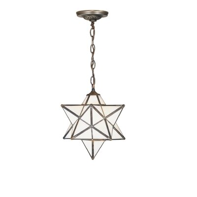 Moravian Star 1-Light Mini Pendant Shade Color: Iridescent Beige