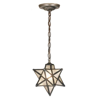 Moravian Star 1-Light Mini Pendant Shade Color: Seedy - Mini