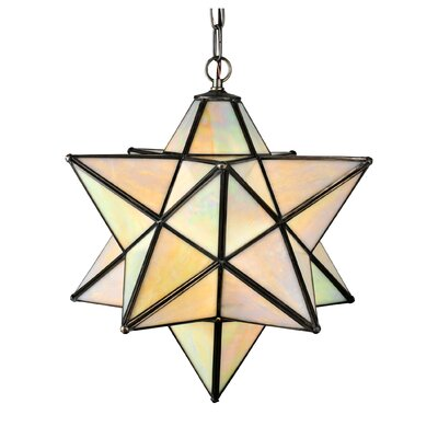 1-Light Star Pendant Shade Color: Iridescent Beige