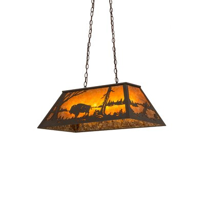 Buffalo at Lake 6-Light Pendant Finish: Timeless Bronze, Shade Color: Amber