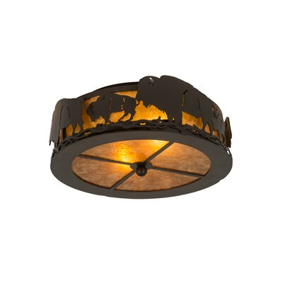 Buffalo 2-Light Flush Mount