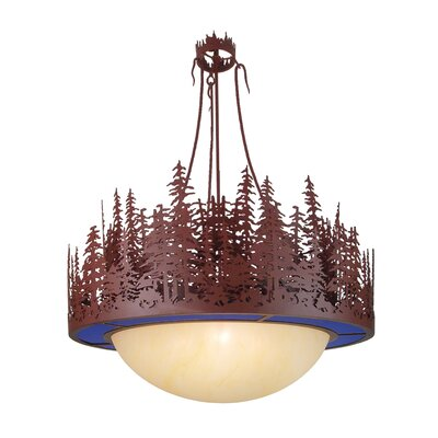 Pine Lake 4-Light Inverted Pendant Shade Color: Rust