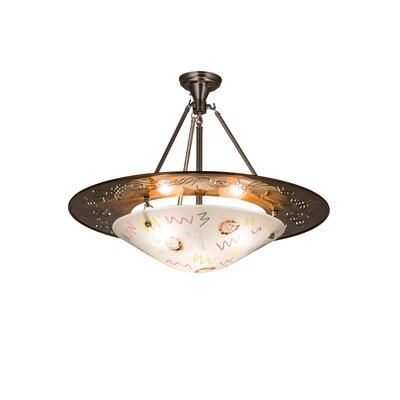 Metro Fusion Super Nova 3-Light Inverted Pendant