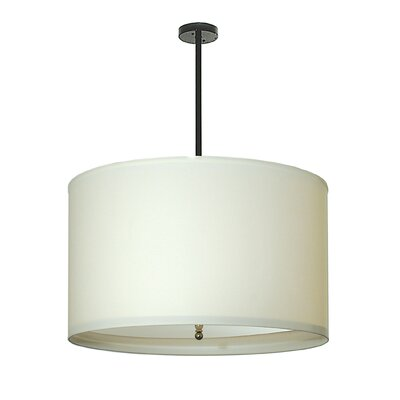 Cilindro White Textrene 4-Light Drum Pendant