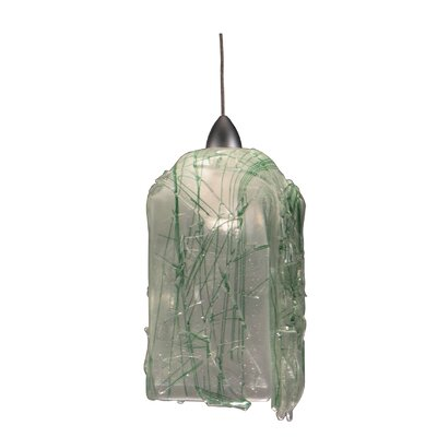 Metro Fusion Taffy Draped 1-Light Mini Pendant Shade Color: Apple - Green