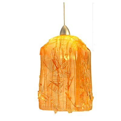 Metro Fusion Taffy Draped 1-Light Mini Pendant Shade Color: Orange
