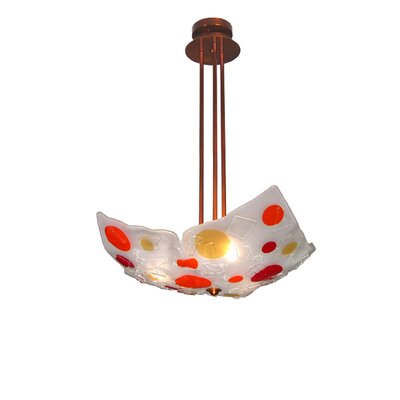 Metro Fusion Gum Drop Crinkle 3-Light Inverted Pendant