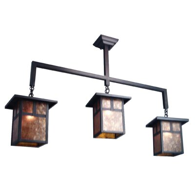 Hyde Park T Mission 3-Light Kitchen Island Pendant