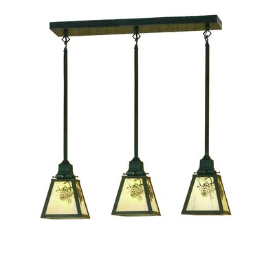 Winter Pine 3-Light Kitchen Island Pendant