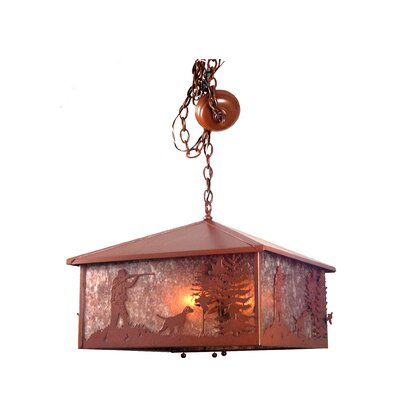 Quail Hunter with Dog 3-Light Pool Table Light
