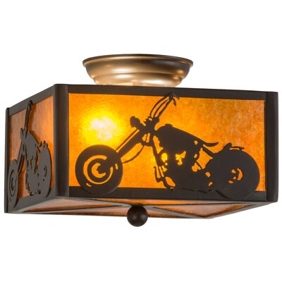 Motorcycle 2-Light Flush Mount