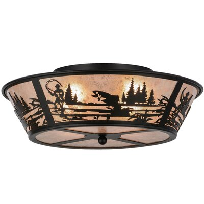 Fly Fishing Creek 4-Light Flush Mount
