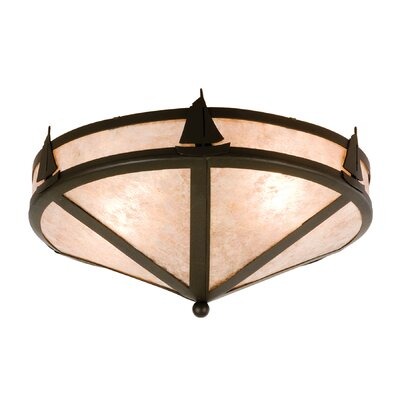 Sailboat 2-Light Flush Mount