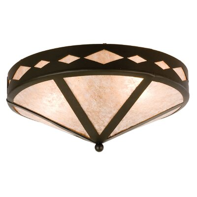 Diamond Trim 2-Light Flush Mount