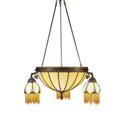 Gothic 6-Light Shaded Chandelier