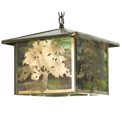 Oak Tree 1-Light Pendant Size: 43 H x 12 W x 12 D