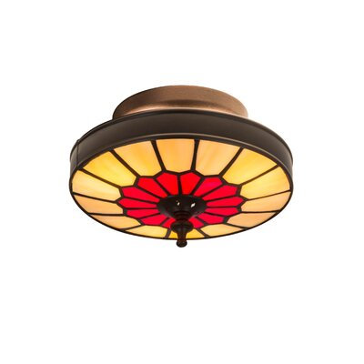 Vincent Honeycomb 3-Light Flush Mount Size: 5 H x 8 W x 8 D