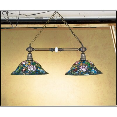 Tiffany Rosebush 2-Light Kitchen Island Pendant
