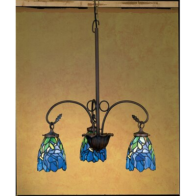Nouveau Iris 3-Light Shaded Chandelier
