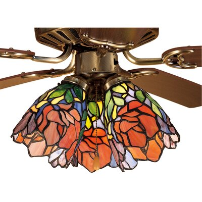 Iris 5 Glass Bowl Ceiling Fan Fitter Shade
