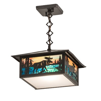 Moose Creek 1-Light Foyer/Lantern Pendant