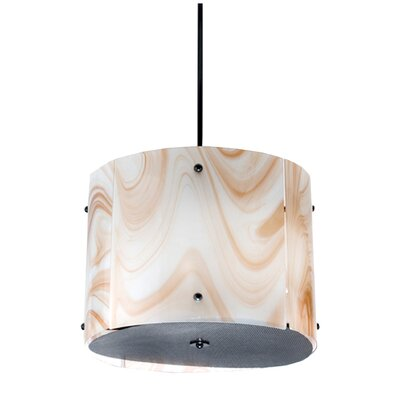 Cognac Swirl 4-Light Drum Pendant