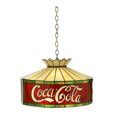 Tiffany Americana Recreation 1-Light Drum Pendant Size: 48 H x 16 W x 16 D, Number of Bulbs: 1