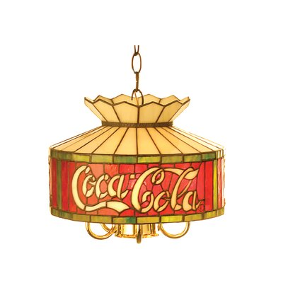 Tiffany Americana Recreation 1-Light Drum Pendant Size: 47 H x 12 W x 12 D, Number of Bulbs: 6