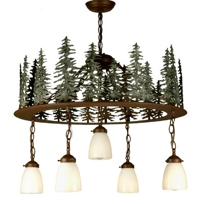 Tall Pines 5-Light Shaded Chandelier