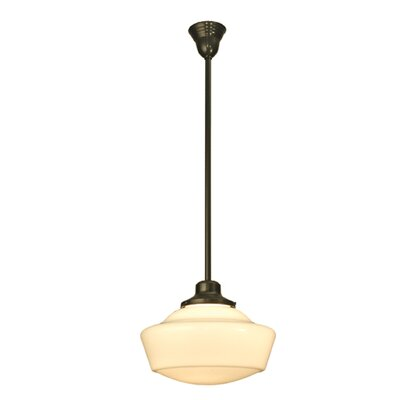 Revival 1-Light Schoolhouse Pendant Size: 41 H x 16 W x 16 D