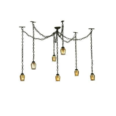 Castilian Favrile Adjustable 7-Light Cascade Pendant