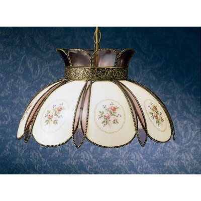Rose Bouquet 1-Light Bowl Pendant