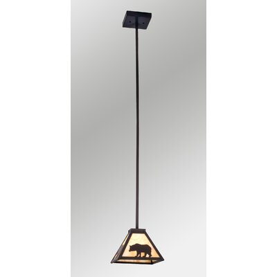 Lone Bear 1-Light Mini Pendant Size: 49 H x 8 W x 8 D