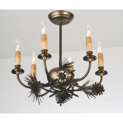 Woodland Pine 6-Light Candle-Style Chandelier