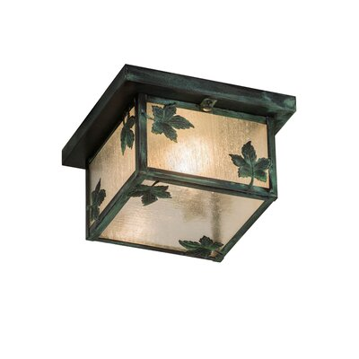 Hyde Park Maple Leaf 1-Light Flush Mount