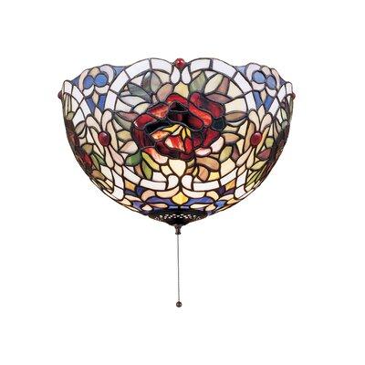 Renaissance Rose 3-Light Flush Mount