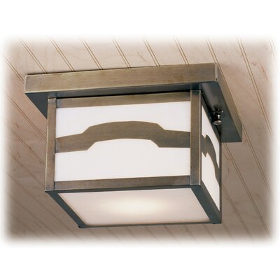 Hyde Park Mountain View 1-Light Flush Mount