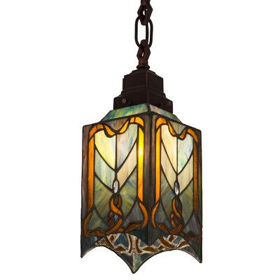 Cottage Mission 1-Light Mini Pendant Size: 40 H x 5.5 W x 5.5 D