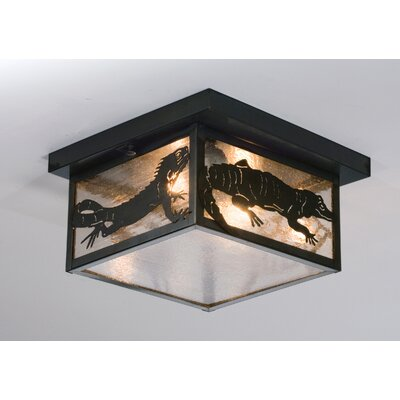 Tropical Creatures 2-Light Flush Mount