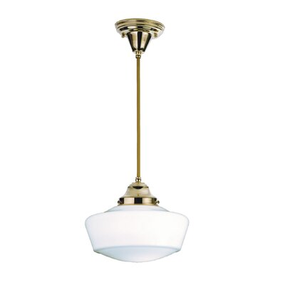 Revival with Traditional Globe  1-Light Schoolhouse Pendant