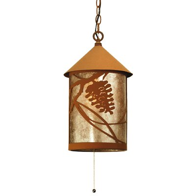 Whispering Pines 1-Light Mini Pendant Finish: Earth