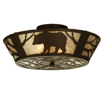 Bear on the Loose 2-Light Flush Mount