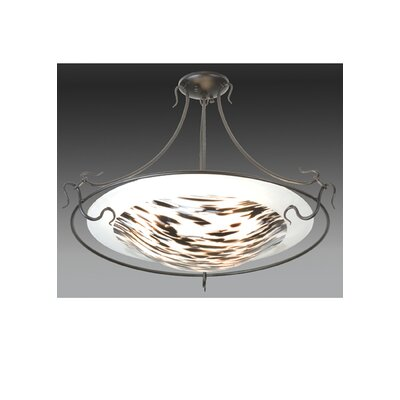 Metro Fusion La Perla Nera 3-Light Semi Flush Mount