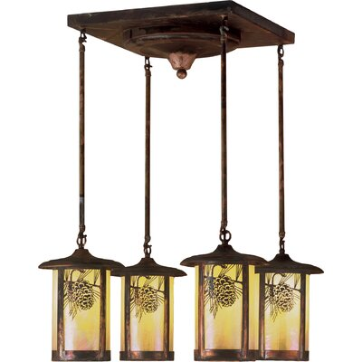 Fulton Winter Pine 4-Light Semi Flush Mount