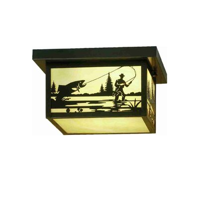 Hyde Park Fly Fishing Creek 2-Light Flush Mount